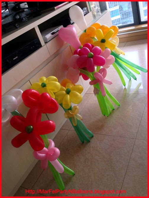 MarFel Party and Balloons: Balloon Flower Bouquets for Valentine