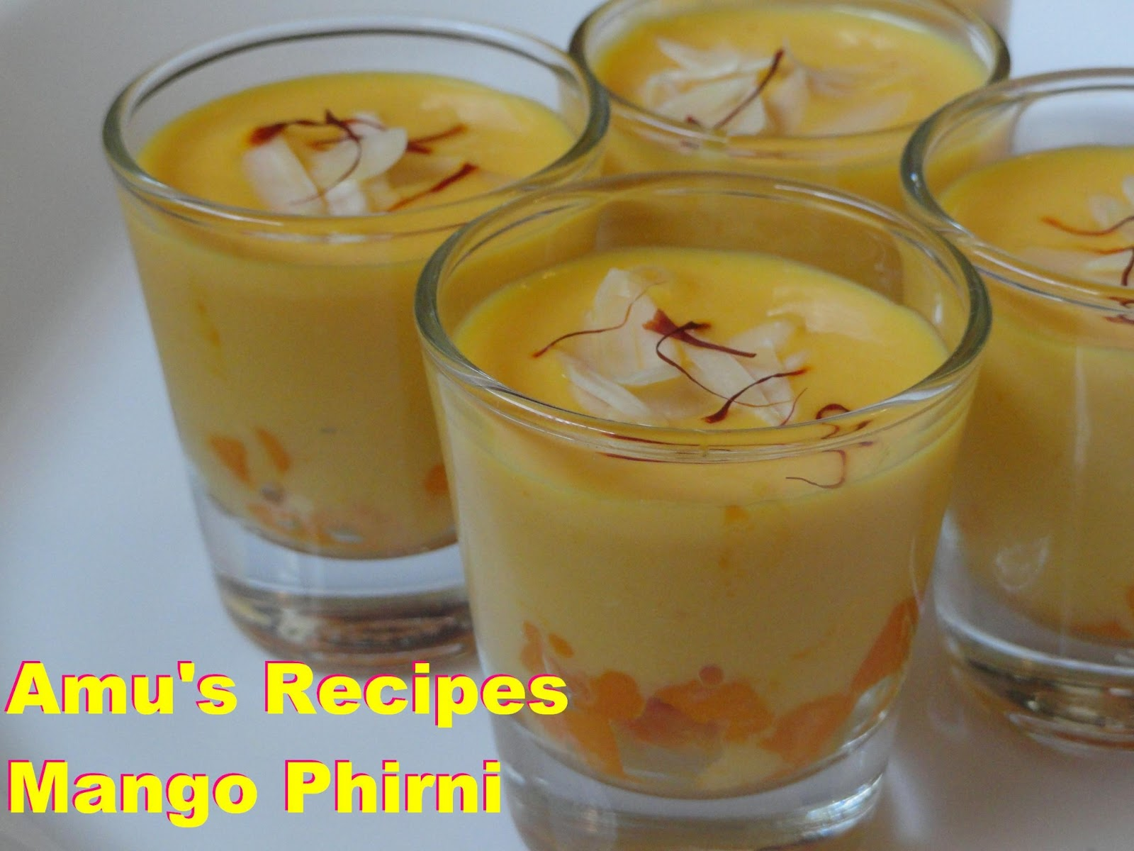Amu 39 S Recipes Mango Phirni