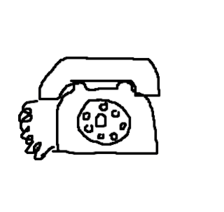 Desenhos Para Colorir Telefone residencial