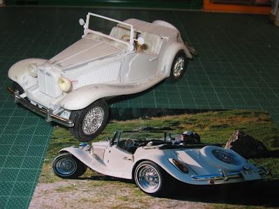 O Volpato elaborou uma miniatura de seu MP Lafer em escala 1/24 a partir de resina e peças adaptadas de outras miniaturas.