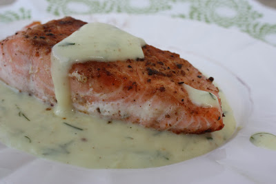 dill sauce with salmon