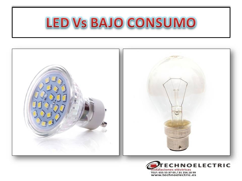 led vs bolbilla de bajo consumo electricista autonomo madrid