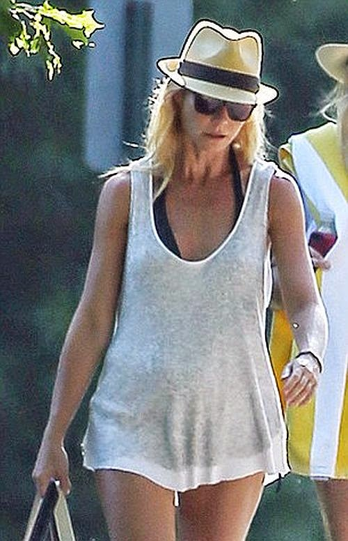 According to the newest reports, the Iron Man star was ready to take for the next step, judge refused to the issue from US Weekly, she is now dating with Glee co-creator, Brad Falchuk. But obviously that's gossip not going to happen more disquiet, at least during her vacation in East Hampton on Thursday, August 14, 2014 with her female friend.