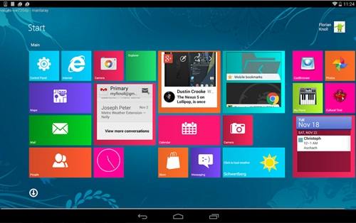 Android tampilan Windows 10
