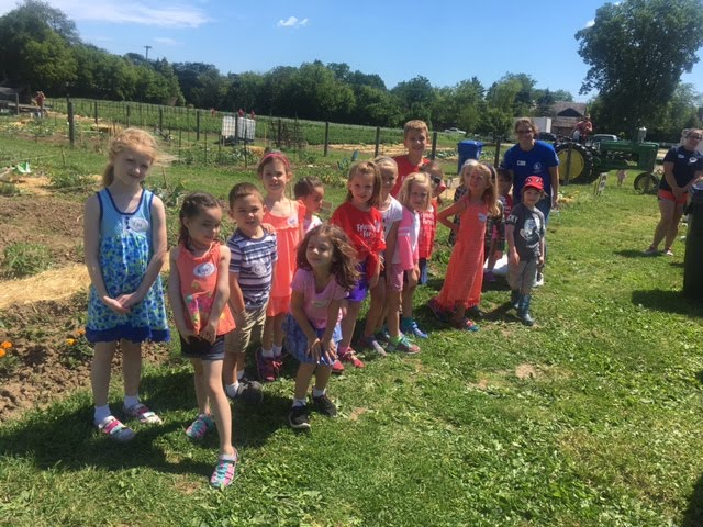 Wagner Camp Visits the Community Garden