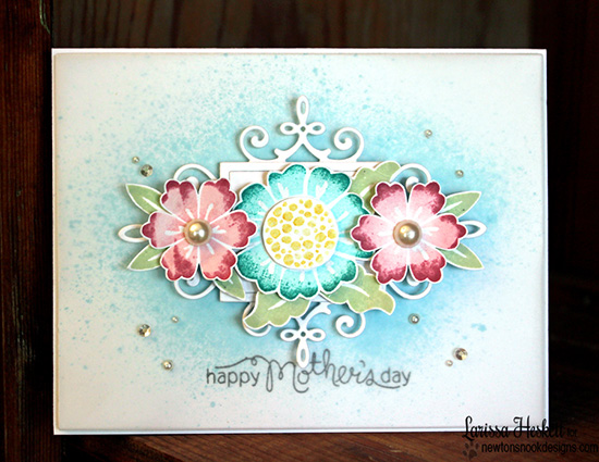 Mother's Day Floral Card by Larissa Heskett | Fanciful Florals Stamp set by Newton's Nook Designs