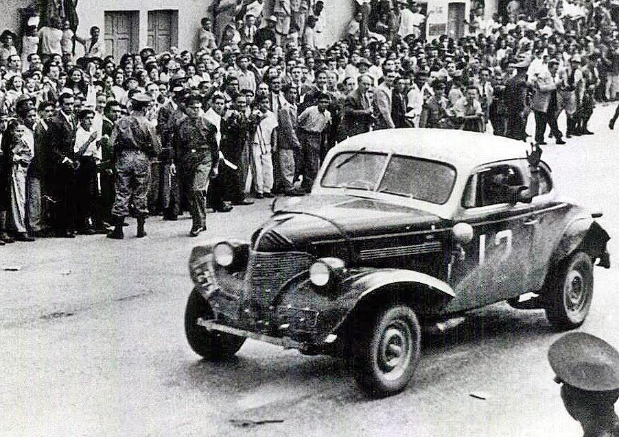 """8 de noviembre, 1948 / EL TC TERMINABA EN CARACAS LA """"VUELTA A LA AMERICA DEL SUR"""""""