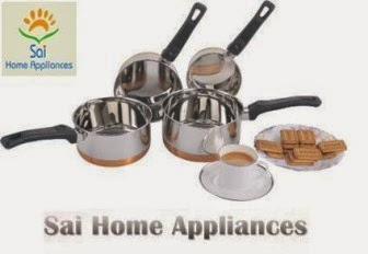 Buy Sai Home Appliances Copper Bottem Sauce Pan 9 for Rs.159 at Pepperfry
