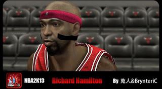 NBA 2K13 Rip Hamilton Cyber Face Mods