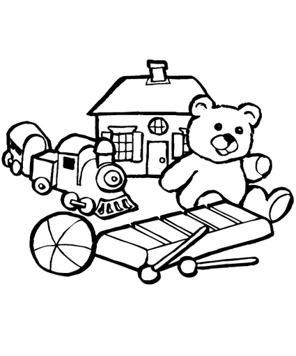 coloring book pages toys - photo#12