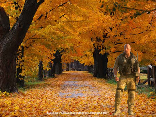 Desktop Wallpapers of Dwayne Johnson Desert Clothing The Rock at Autumn Trees desktop wallpaper