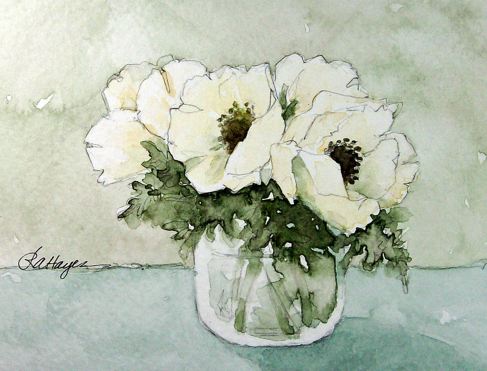 Watercolor Paintings By Roseann Hayes November 2012