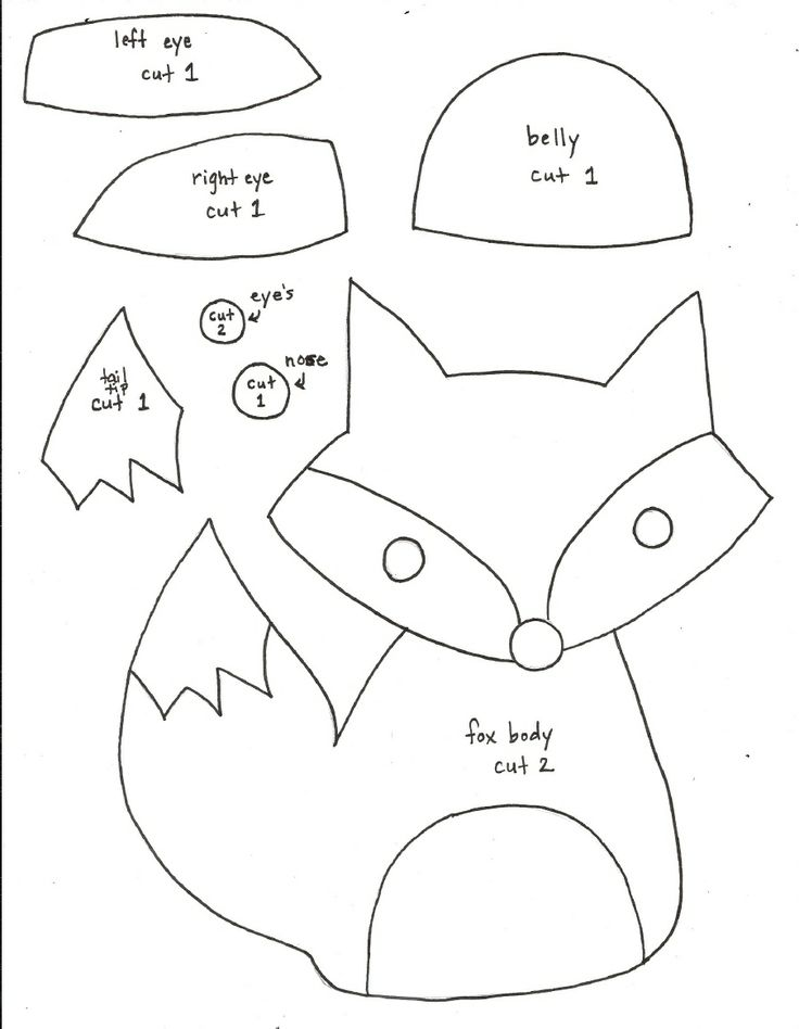 Tutoriales y DIYs: Patrón Zorro de peluche