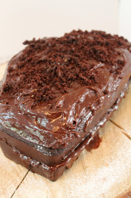 Squidgy chocolate orange loaf cake