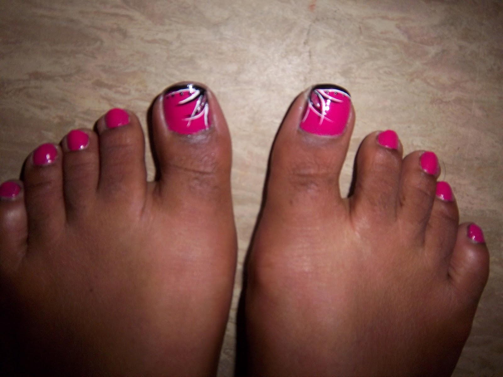 Wymeakas World How To Pink Toe Nail Art