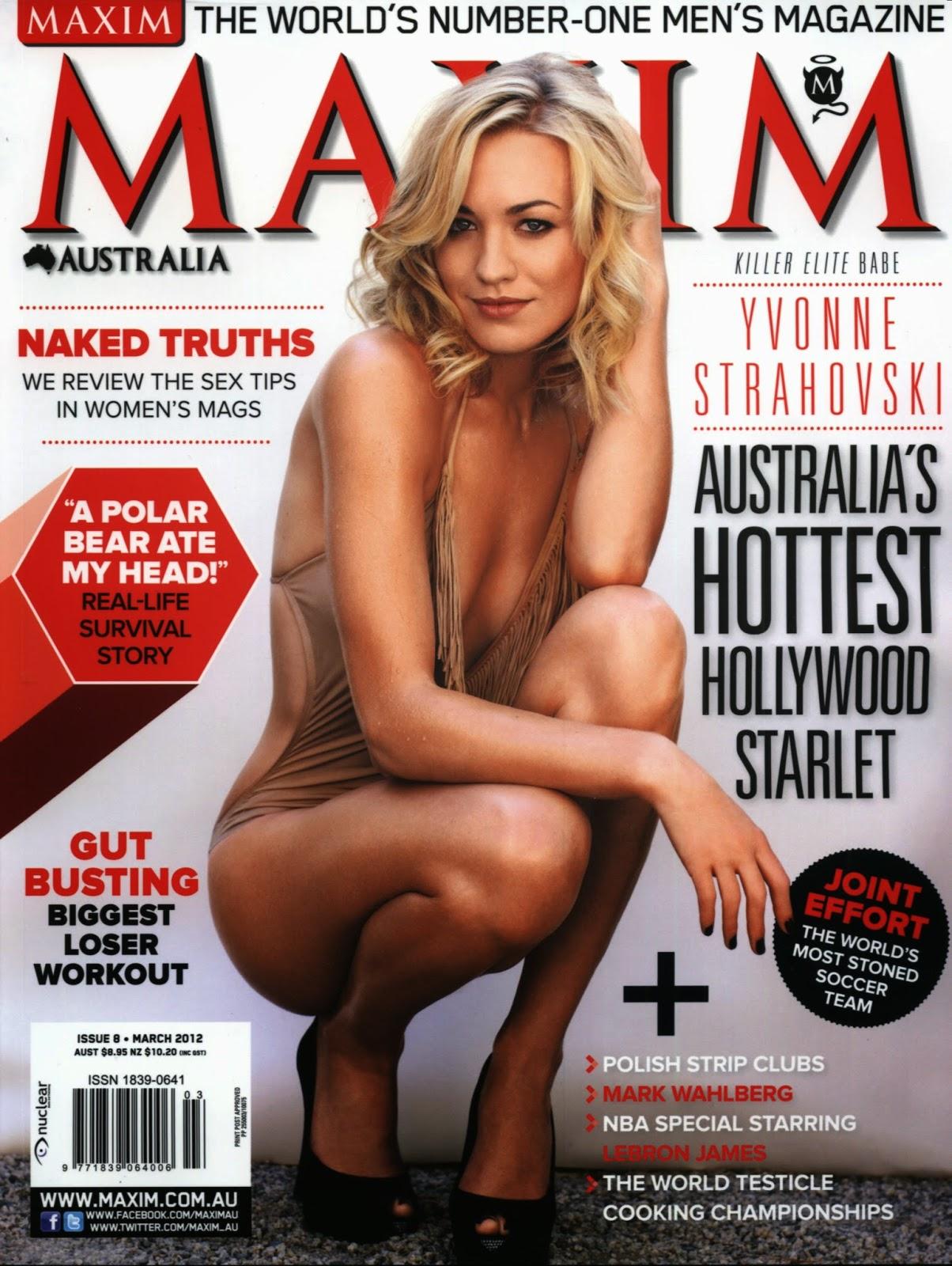 World Hot Actress Yvonne Strahovski Hot Sexy Maxim March 2012 Covers Hq Stills Photos