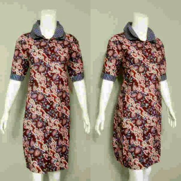 Baju Wanita Model Mini Dress Batik Terbaru Untuk Pesta