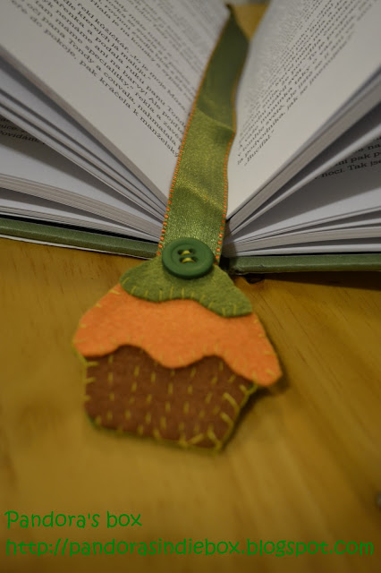 Handmade felt bookmark