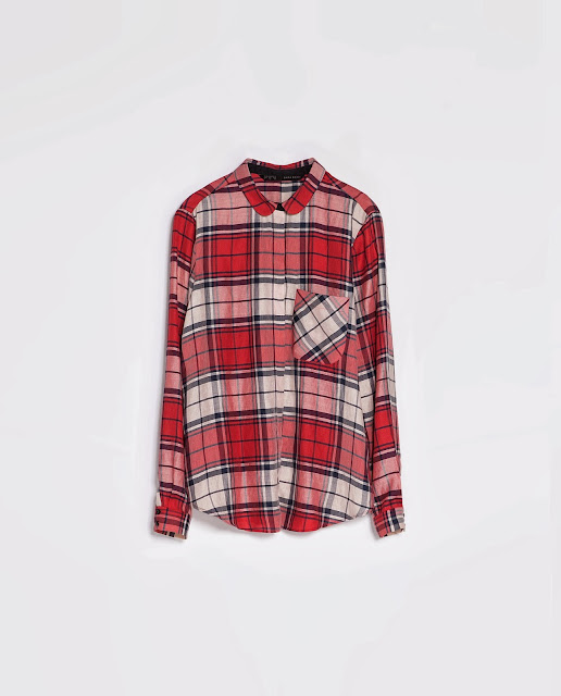 zara check shirt