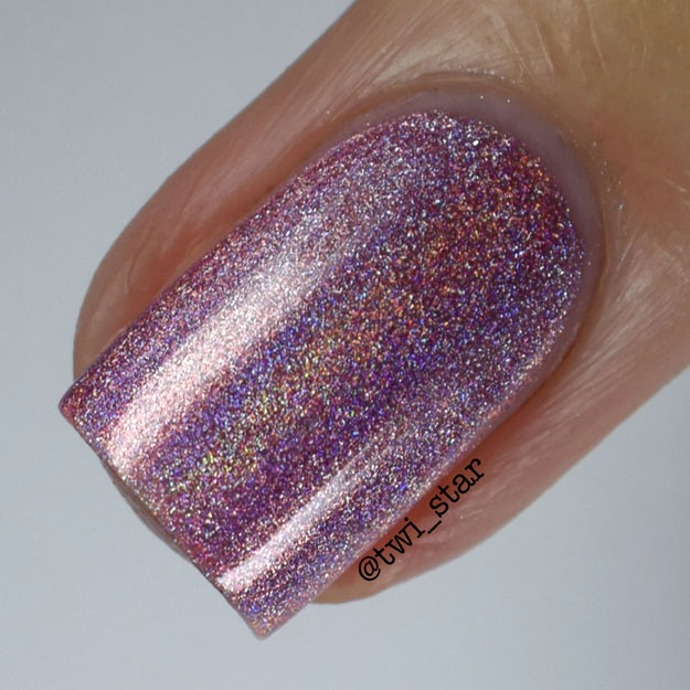 Bundle Monster Holographic Polish Call You Maybe Pink Holo swatch macro