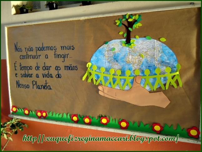 Eduque e transforme lembrancinha e mural for Mural sobre o meio ambiente