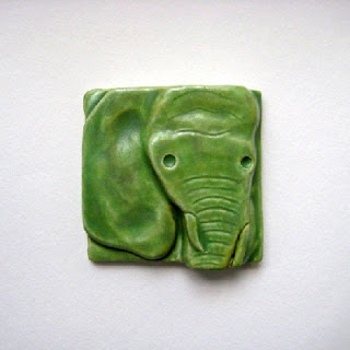 Elephant Tile    By CorduroyClay