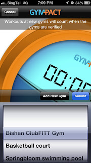 Gympact checkin screen