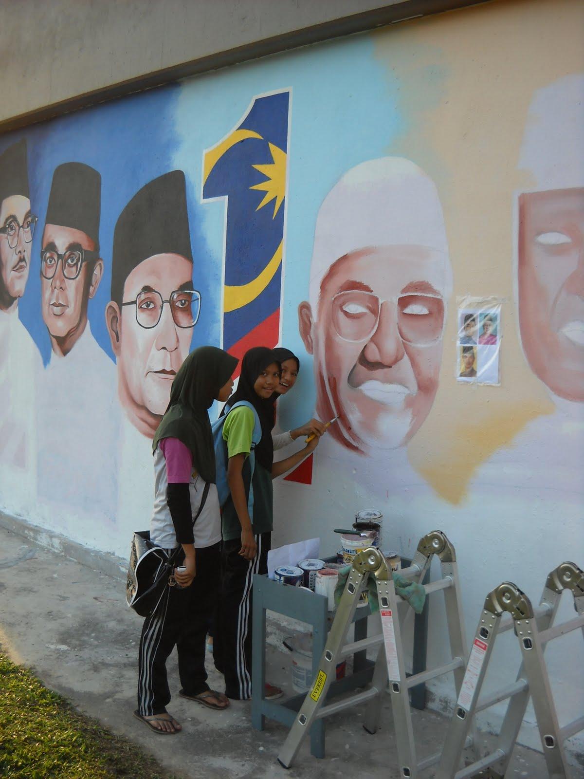Pelukis Mural Shah Alam Perdana Menteri Malaysia Dan 1