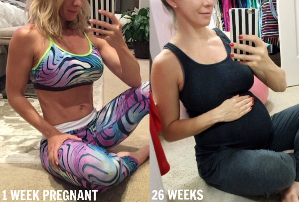 Pregnancy update - 1 week pregnant and 26 weeks pregnant.