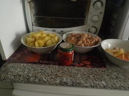 pommes de terre, thon etc;;