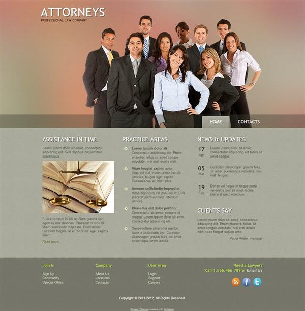 Attorneys - Free Drupal Theme