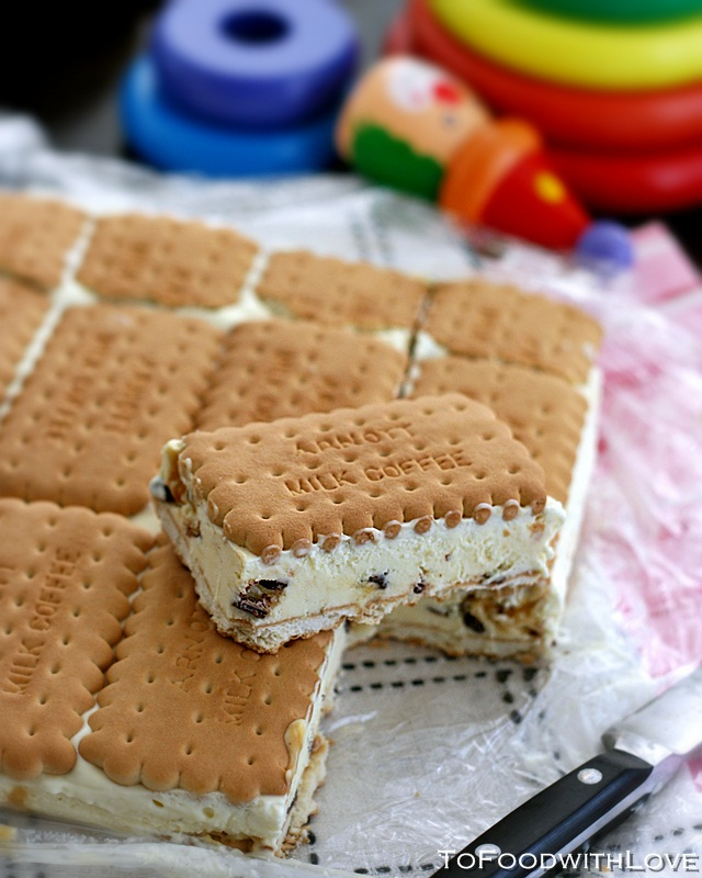 To Food with Love: Honeycomb Ice-cream Sandwich