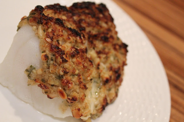 Imperfect polish pine nut and parmesan crusted fish for Parmesan crusted fish