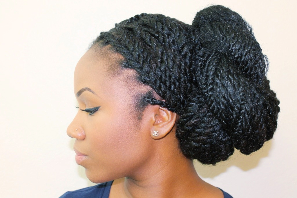 Click here to see how I condition my hair after protective styling.