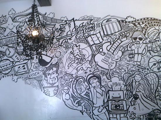Doodled wall of Pino Resto Bar, Maginhawa Street