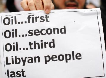 El petroleo lo primero. El pueblo libio, lo último
