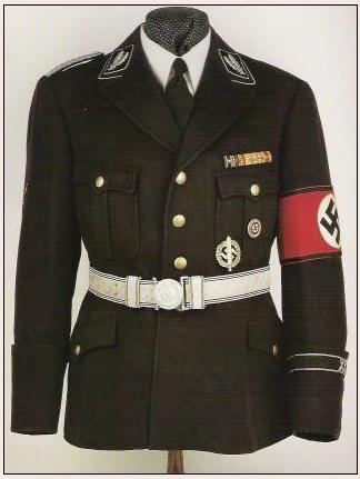 Wzór niemieckiego munduru wojskowego jakie produkowała firma Hugo Boss w latach 40-tych XX wieku