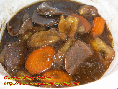 Pinoy Lengua Estofado - Cooking Procedure