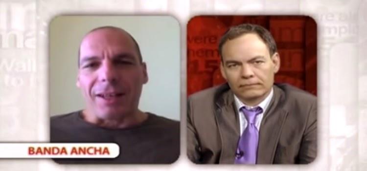 Yanis Varoufakis hablando comentando españa economía