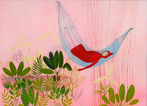 contemporary illustration of a hammock by Betsy Walton