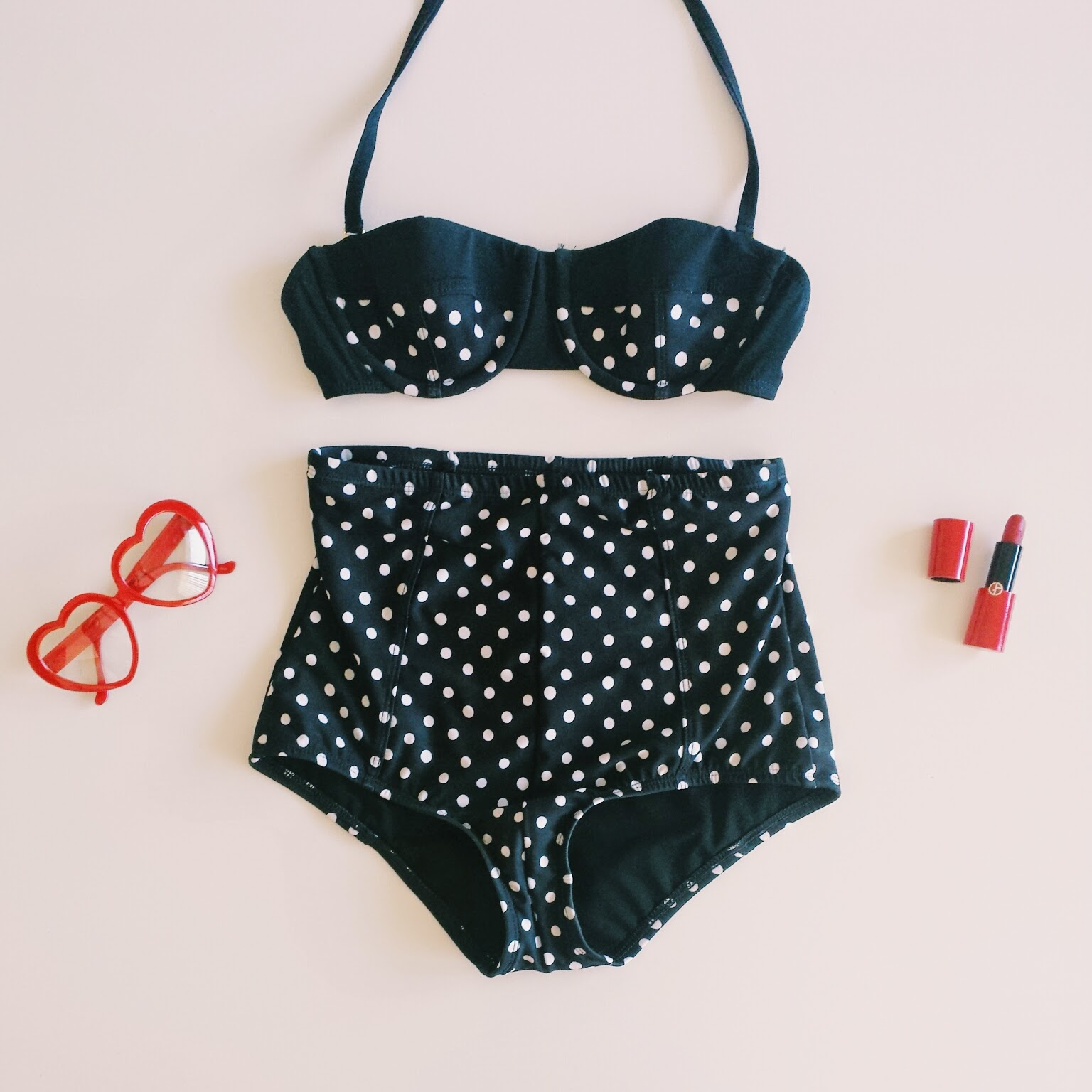 Guess polka dot retro bathing suit