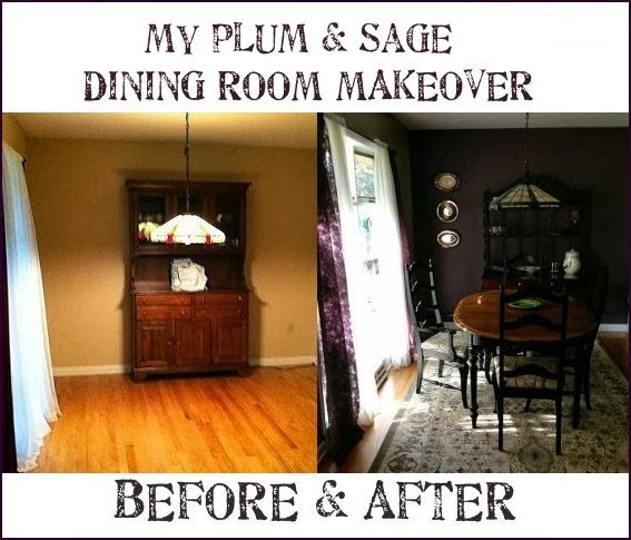 Dishfunctional Designs: My Plum & Sage Dining Room Makeover: Finished!