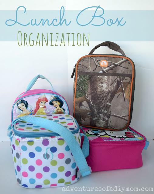 Lunch Box Organization