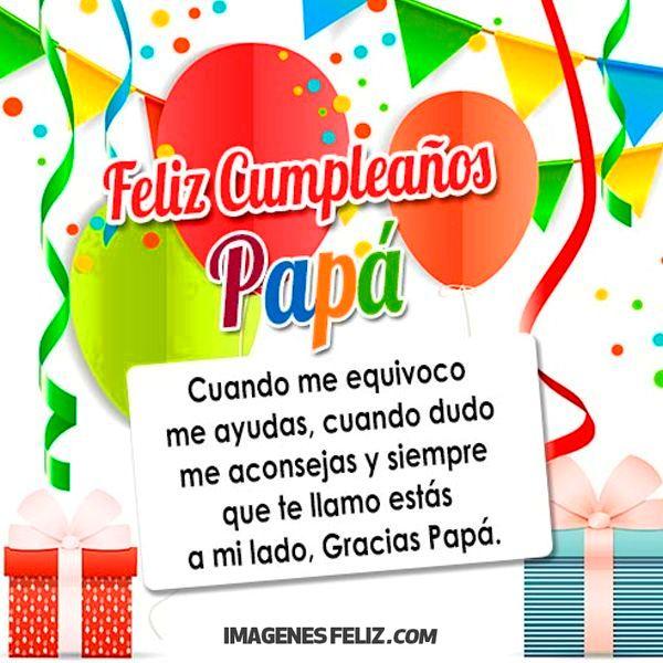 Feliz Cumpleaños Papá Imágenes Frases Bonitas Img Draggablefalse