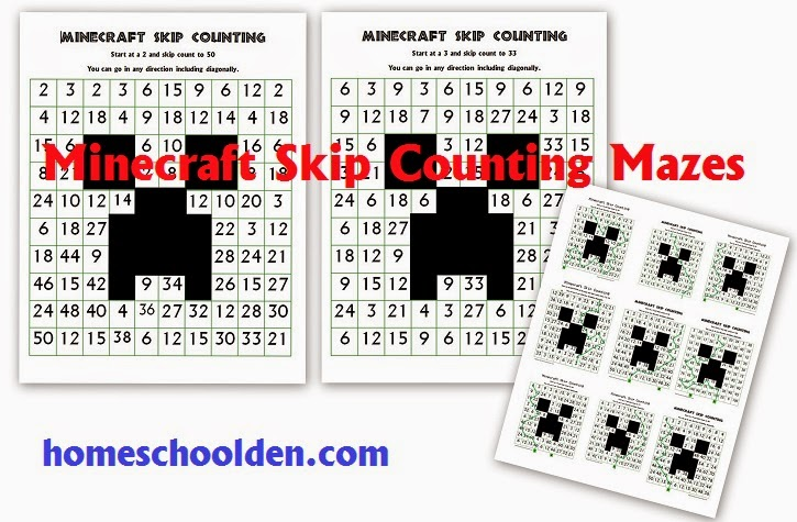 Minecraft Math Worksheets