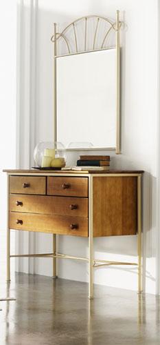 Muebles de forja consolas recibidor en forja y madera for Comoda recibidor