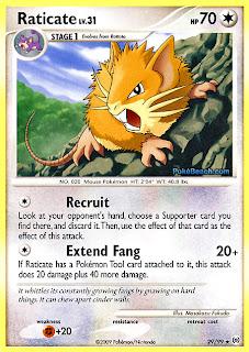 Raticate Pokemon Card Arceus Set