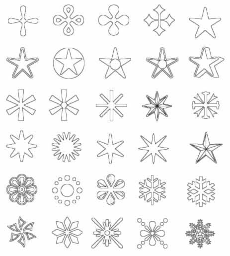 Dibujos para colorear: Dibujos de estrellas para colorear