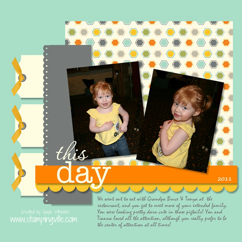 MDS Digital Scrapbook Page