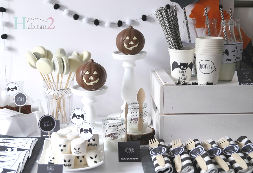 Mesa dulce para Halloween con party-kit diseño de Habitan2
